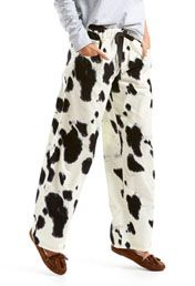 Cow Print Western Flannelette Pj Pant