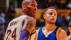 Kobe Bryant Battles Stephen Curry For Last Time