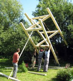 Tree Fort Plans   Tree House   Freestanding Timber Treehouse   Co    Free Standing Tree House  how to build pictures   Modern House Designs