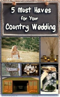 Rustic Country Wedding Ideas - 5 must haves for a country wedding - via @cowgirldirt - #CowgirlWedding #CountryWedding