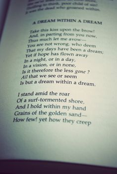 A surreal poem by the great Edgar Allen Poe