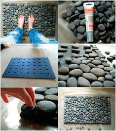Nature-Inspired Beauty – How To Use River Stones In DIY Projects Craft at Home – SPA bathroom arrangement – easy DIY recipe idea The post Nature-Inspired Beauty – How To Use River Stones In DIY Projects appeared first on Fashion Ideas - Fashion Trends. Diy Projects To Try, Home Projects, Home Crafts, Diy Home Decor, Diy Crafts, Craft Projects, Decor Crafts, Diy Tapis, Diy Casa