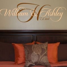 Pretty vinyl lettering for a bedroom wall