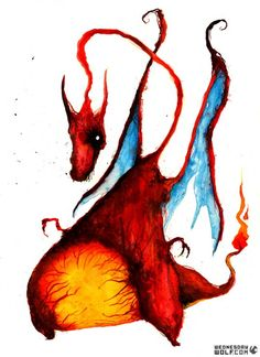 Charizard by Wednesday Wolf. I've met this artist several times at Crypticon and one a few pieces. Wonderful guy and an amazing artist. Cool Paintings, Original Paintings, Pokemon Charizard, Charmander, Pokemon Starters, Magical Tree, All Art, Unique Art, Art Sketches