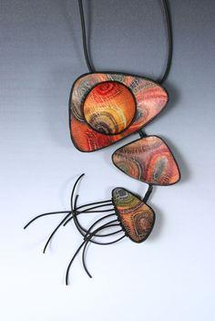 Pearl Crackled Bracelet and Pendant with Sylvie Peraud #craftartedu