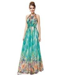 6ba7c050834f Ever Pretty Zelenomodré šaty s drobnými květy a zipem na zádech Dress  Outfits