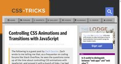 Controlling CSS Animations and Transitions with JavaScript | CSS-Tricks