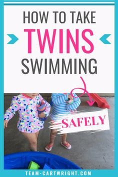 Top 10 tips for safe swimming with twins. Want to take your twins to the pool this summer? These tips will keep everyone safe. Get ideas for toddler safety so you can have the best summer yet. Perfect for pools, beaches, and even kiddie pools. Twin swimming safety. Twin summer tips. #twinsafety #toddlertwins #swimmingsafety #summerwithkids #poolsafety Team-Cartwright.com Twin Mom, Twin Babies, Baby Twins, Twin Toddlers, Toddler Twins, Twins Schedule, Breastfeeding Twins, Nursery Twins, Kiddie Pool