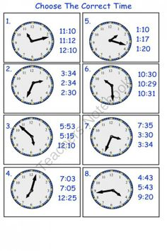 Telling Time Printable Worksheets for Gr. This is a PDF teaching students about time. Time Worksheets Grade 3, Printable Math Worksheets, Worksheets For Kids, Printables, Cycle For Kids, Self Esteem Worksheets, Teaching Time, Cvc Words, Math For Kids