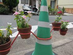 traffic cone planter