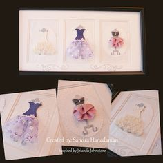 Stampin'Up! Dress Up dies... made these for my good friend Krista on her Birthday last year.  Love playing with these!!