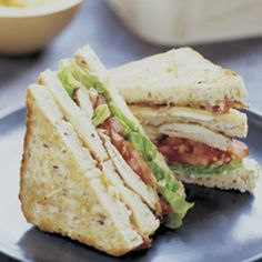 Marinated Chicken Club Sandwich