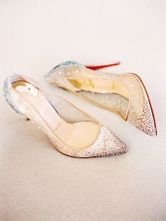 We can't resist these graceful Christian Louboutin shoes featuring gradient crystal embellishments! » Praise Wedding Community