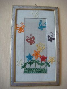Tatted  Butterflies & flowers........ good inspiration for cards too.