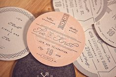 love the typography and simplicity of these wedding invite coasters—ross clodfelter Wedding Invitation Design, Wedding Stationary, Wedding Branding, Stationary Design, Invitation Ideas, Wedding Paper, Our Wedding, Wedding Ideas, Garden Wedding