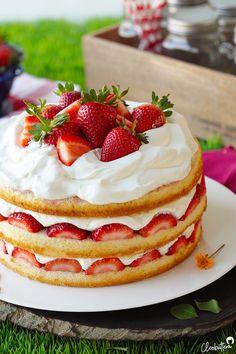 Strawberry Cream Cake | Cleobuttera