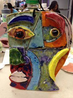 Picasso inspired ceramic mask made by student