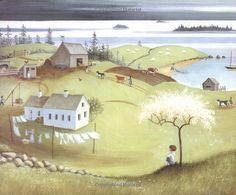 Barbara Cooney's beloved stories and illustrations carry lessons for young Americans about moral courage. Island Pictures, Boy Pictures, Barbara Cooney, Children's Book Illustration, Book Illustrations, Art Corner, Naive Art, Tole Painting, Whimsical Art