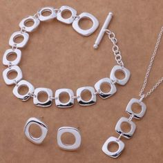AS039 Hot 925 sterling  silver Jewelry Sets Earring 239 + Necklace 239…