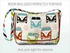 Kid's Vintage Book Bag | Sew4Home (want to make this for myself)
