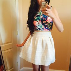 My favorite Summer outfit. This cute and girly outfit is from charlotterusse. Don't forget to check my instagram for more cute and girly outfits. Teen Fashion Outfits #teenfashion #teenfashionoutfits http://instagram.com/loveirisblog