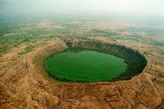 Meteor impact crater at Lonar, Maharashtra