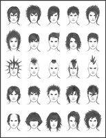 How to Draw Hair Men's Hair - Set 2 with thanks to  ~dark-sheikah on deviantART, Art Student Resources for CAPI ::: Create Art Portfolio  Ideas at milliande.com , Art School Portfolio Work