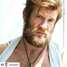 #Repost @paulpeix ・・・ Here comes the sun! Tchurururu ☀️ #colbykeller #colby #hotman #sexman #porn #actor #boy #male #hotmale #bear #beard #keller