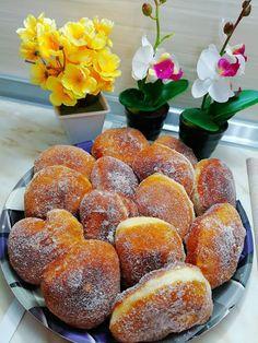 Λουκουμάδες εξαιρετικοί !!!! ~ ΜΑΓΕΙΡΙΚΗ ΚΑΙ ΣΥΝΤΑΓΕΣ Baked Doughnuts, Brunch, Sweetest Day, Greek Recipes, Food Processor Recipes, Muffin, Food And Drink, Peach, Tasty