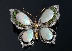 J.E. Caldwell, Opal Butterfly Brooch - OMG! My fave of all jewels! Opals with green fire and emeralds!