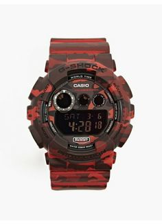 Casio G-Shock Red Camo GD-120CM-4ER watch