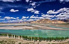 Brahmaputra River Viewed from Shigatse, Tibet Monuments, Places To Travel, Places To See, Le Tibet, Brahmaputra River, Nepal Trekking, Whitewater Kayaking, Lhasa, Places Around The World