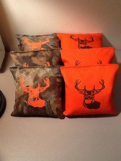 Hey, I found this really awesome Etsy listing at https://www.etsy.com/listing/119833280/cornhole-bags-camo-orange-deer-logo