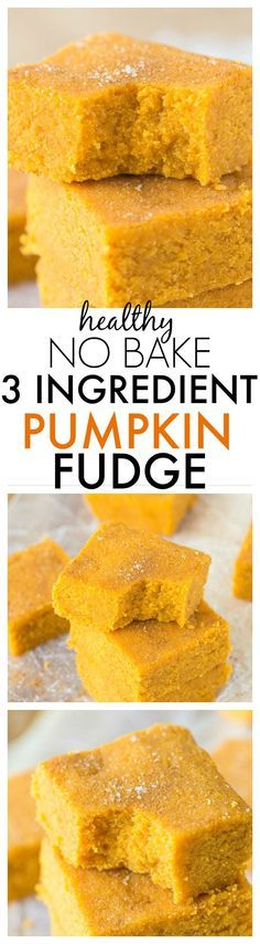 3-ingredient No Bake Paleo Pumpkin Fudge by Big Man's World.