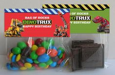 Dinotrux Inspired Treat Bag Toppers Dinotrux by InstaBirthday