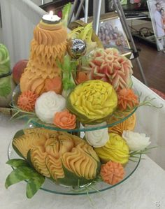 Fruits carvings