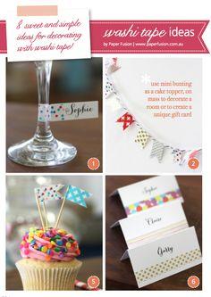8 sweet washi tape ideas