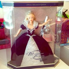 "RARE Brand New Millennium Barbie stored preserve💝 Collectable 💝💝RARE💝💝Brand new in box sealed never opened NEW MILLENNiUM PRINCESS BARBiE.The Barbies are not made like these anymore.Creat to add to you collection or for a gift for a child FROM year ""2000"" mint condition box no dents or fading stored in ziplock inside a box for preservation. It's the perfect New Millennium Keepsake or perfect Barbie for your child.They don't make them like this anymore. Detail and quality.16 years old…"