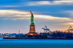 The Lady Liberty #Sunset #NewYorkCity @yourtake @NYCDailyPics @nycfeelings