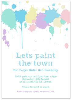 Link to an adorable birthday Painting Party. Cute activity and dessert ideas!