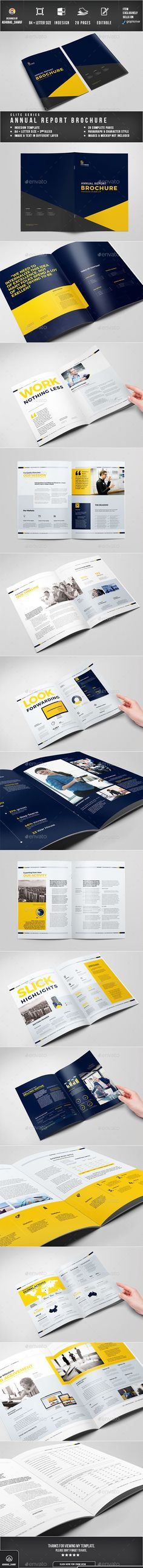 Business Brochure Template INDD Brochure Templates Pinterest - business annual report template