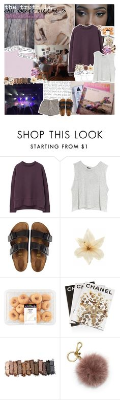 """""""tapes from la slash san francisco"""" by annikaelise119 ❤ liked on Polyvore featuring MANGO, MINKPINK, Huffer, Birkenstock, Clips, Assouline Publishing, Urban Decay, MICHAEL Michael Kors and TalisLittleTag"""