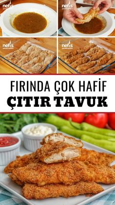 Fırında Galeta Unlu Çıtır Tavuk (videolu) – Nefis Yemek Tarifleri – Et Yemekleri – Las recetas más prácticas y fáciles Yummy Recipes, Best Chicken Recipes, Meat Recipes, Baking Recipes, Dinner Recipes, Enchiladas Potosinas Recetas, Enchiladas Mexicanas, Enchiladas Guatemaltecas, Good Food