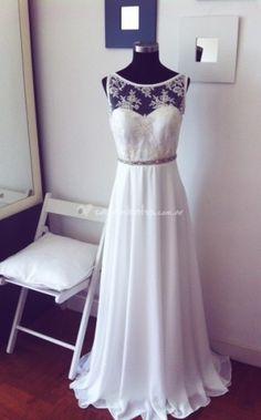 Vestido de top de encaje de Box In White | Foto 31