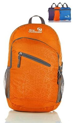 Outlander Packable Handy Lightweight Travel Hiking Backpack Daypack-Orange…