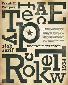 Tipografía: Rockwell