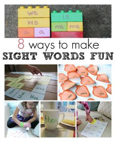 Fun ways to learn sight words - great ideas for sight word activities.