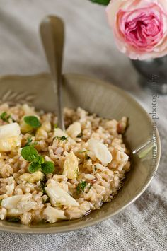 risotto with white asparagus