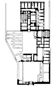 İshak Paşa Sarayı, Doğubeyazıt, Ağrı. Plan
