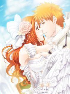 Ichigo Kurosaki x Orihime Inoue - Bleach \ ^^ / Bleach Manga, Bleach Fanart, Ichigo E Orihime, Bleach Couples, Romance, Couple Cartoon, Cute Anime Couples, Anime Manga, Anime Art
